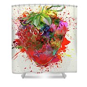 Perfect Strawberry Shower Curtain