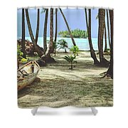 Perfect Tropical Paradise Islands With Turquoise Water And White Sand Shower Curtain