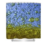 Abstract Olive Oil Shower Curtain