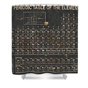 Periodic Table Grunge Style Shower Curtain