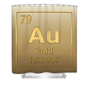 Periodic table of elements gold au gold on gold carry all periodic table of elements gold au gold on gold shower curtain urtaz Choice Image