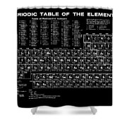 Periodic Table Of Elements In Black Shower Curtain