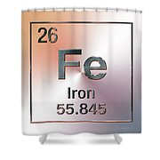 Periodic Table Of Elements - Iron Fe Shower Curtain