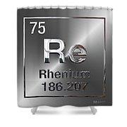Periodic Table Of Elements - Rhenium Shower Curtain