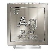Periodic Table Of Elements - Silver - Ag Shower Curtain