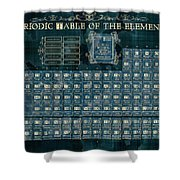 Periodic Table Of The Elements Vintage 4 Shower Curtain