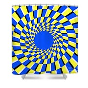 Peripheral Drift Illusion  Shower Curtain