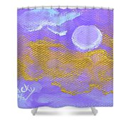 Periwinkle Moon Shower Curtain