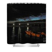 Perkins Pier Sunset Shower Curtain