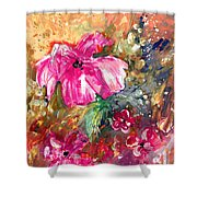 Perky Pink Shower Curtain