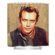 Pernell Roberts, Vintage Actor Shower Curtain