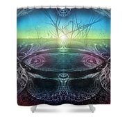 Perpetual Motion Landscape Shower Curtain