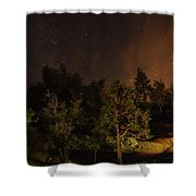Perseid Meteor Glow A Shower Curtain