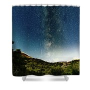 Perseids Meteor Shower  Shower Curtain