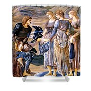 Perseus And The Sea Nymphs 1877 Shower Curtain