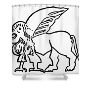 Persian Griffin Shower Curtain