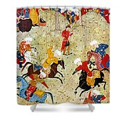 Persian Polo Game Shower Curtain