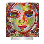 Persistence - Contemporary Art Face Shower Curtain