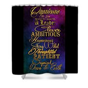 Personality Traits Of A Capricorn Shower Curtain by Mamie Thornbrue
