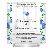 Personalized Wedding Invitations Shower Curtain