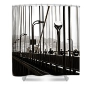 Perspective On The Golden Gate Bridge Shower Curtain