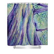 Perspective Tree Shower Curtain by Gretchen Bjornson