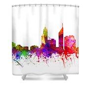 Perth Australia Cityscape 02 Shower Curtain