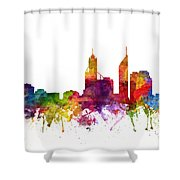 Perth Australia Cityscape 06 Shower Curtain