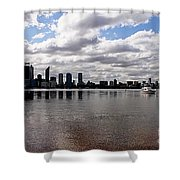 Perth City From South Perth Foreshore  Shower Curtain