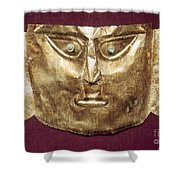Peru: Chimu Gold Mask Shower Curtain