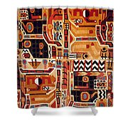 Peru: Tunic Fragment Shower Curtain