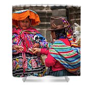 Peruvian Costume Shower Curtain