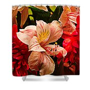 Peruvian Lily Grain Shower Curtain