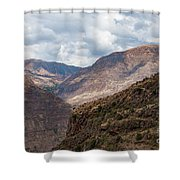 Peruvian Mountains From Pisac Site Shower Curtain