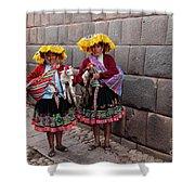 Peruvian Native Costumes  Shower Curtain