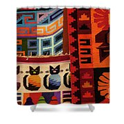 Peruvian Tapestries  Shower Curtain