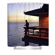 Fishing At Naples Pier Shower Curtain