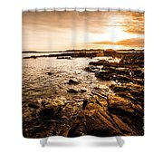 Petal Point Ocean Sunrise Shower Curtain