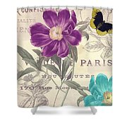 Petals Of Paris II Shower Curtain