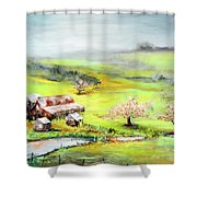 Petaluma Fogbreak Shower Curtain