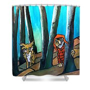 Peter And The Wolf Shower Curtain