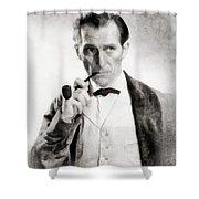 Peter Cushing As Sherlock Holmes Shower Curtain