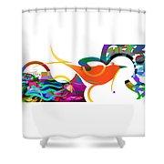 Petit Oiseau De Paradis Shower Curtain