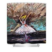 Petite Ballerina Shower Curtain