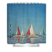 Petole A Chausey Shower Curtain