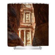 Petra Treasury Revealed Shower Curtain