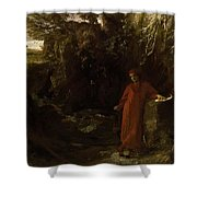 Petrarch By The Fountain Of Vaucluse Shower Curtain