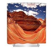 Petrified Dunes Landscape Shower Curtain