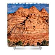 Petrified Sand Dunes Shower Curtain