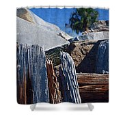 Petrified Wood Shower Curtain